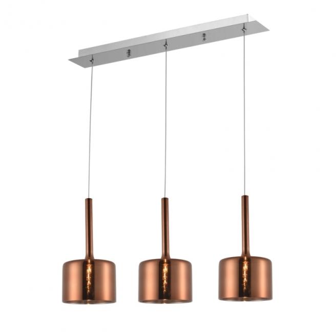 Lampa wisząca COPENHAGEN miedziana potrójna P03035CU