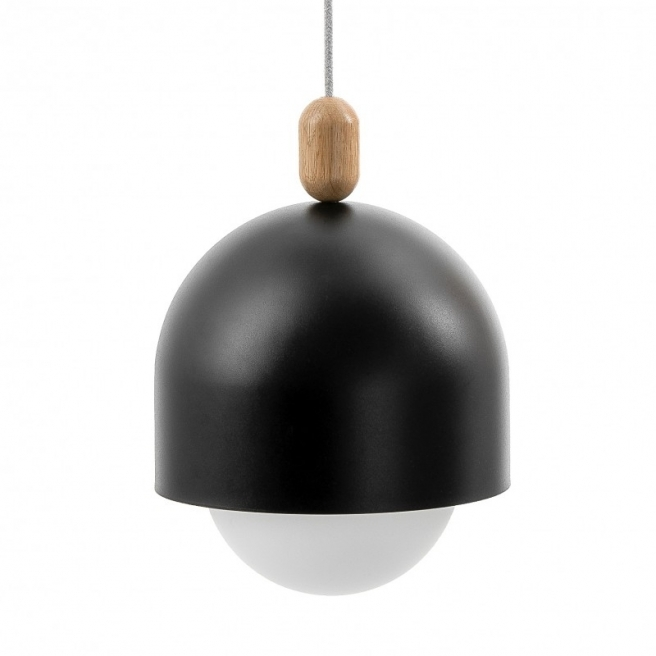 Lampa Wisząca LOFT OVOI Mega Czarna (strukturalna)