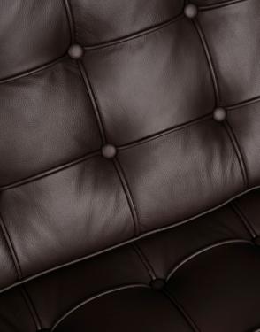 Sofa BA2 2 osobowa, brązowa skóra naturalna
