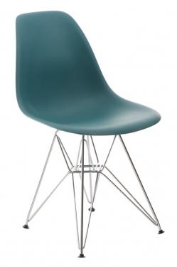 Krzesło P016 PP navy green, chromowane nogi