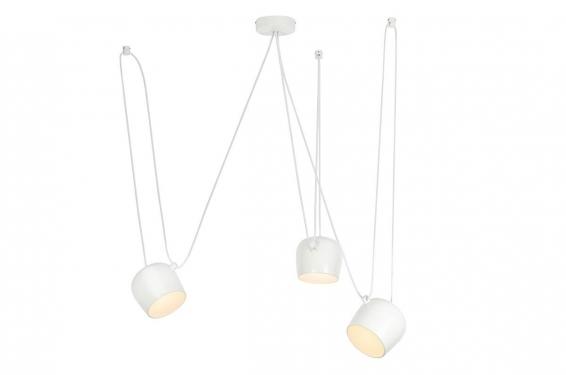 Lampa wisząca EYE 3 biała - LED, aluminium