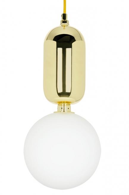 Lampa wisząca BOY M Fi 25 złota - szkło, metal