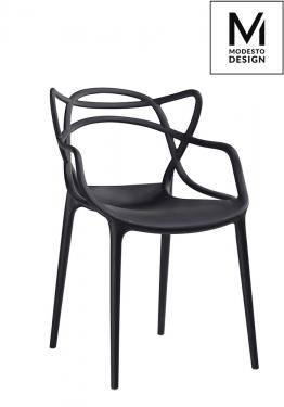MODESTO krzesło HILO czarne - polipropylen