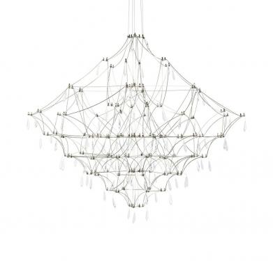 Lampa wisząca CONSTELATION 100 - LED, stal szczotkowana