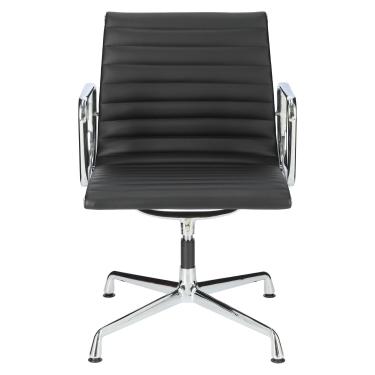 Fotel konf. CH1081T,czarna skóra ,chrom