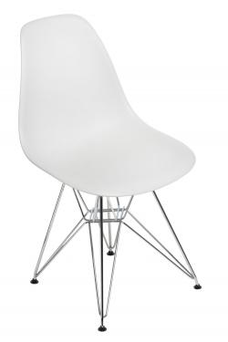 Krzesło P016 PP light grey, chromowane nogi