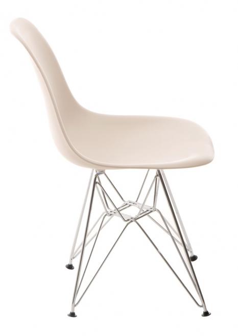 Krzesło P016 PP beige, chromowane nogi