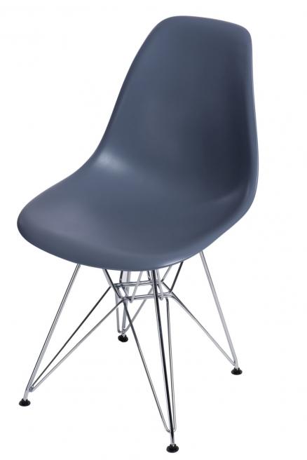 Krzesło P016 PP dark grey, chromowane nogi
