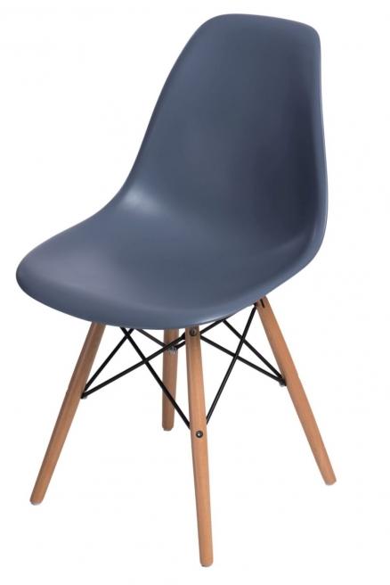 Krzesło P016W PP dark grey, drewniane nogi