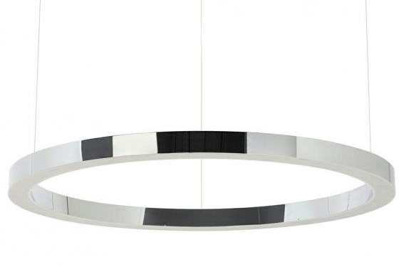 Lampa wisząca RING 100 srebrna - LED, stal polerowana