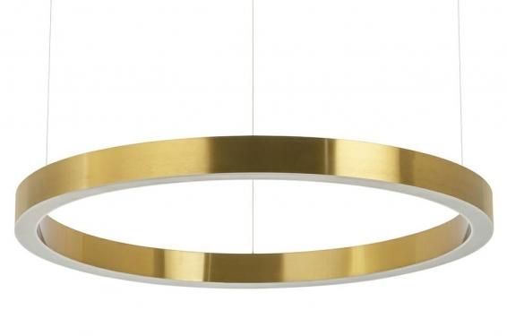 Lampa wisząca RING 80 złota - LED, stal