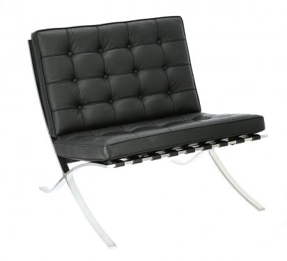 Fotel BA1 skóra naturalna czarna