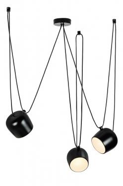 Lampa wisząca EYE 3 czarna - LED, alumiumium
