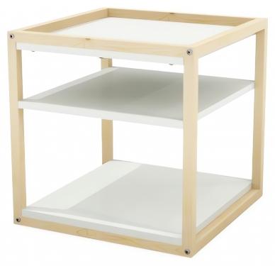 Kwadratowy stolik kawowy MINIDES2 z półkami