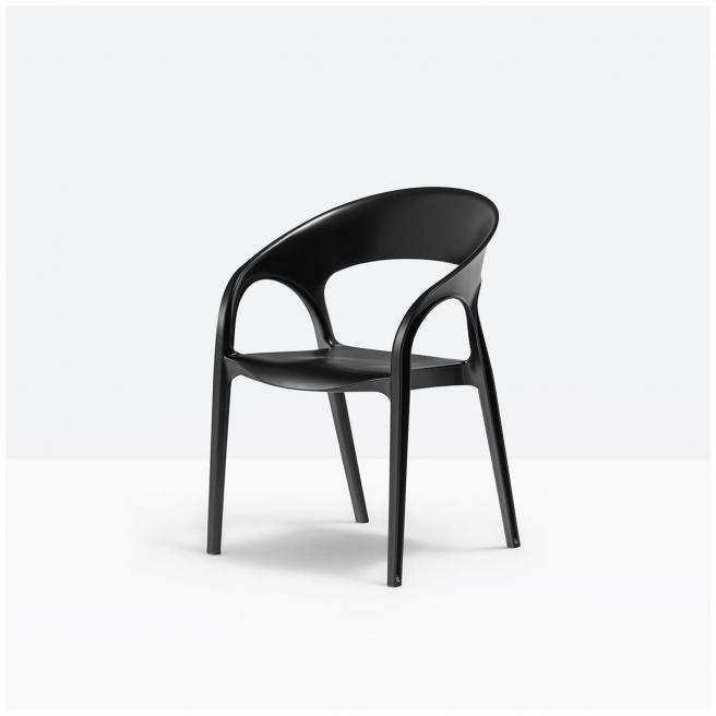Krzesło PEDRALI GOSSIP 621 Czarne Polipropylen
