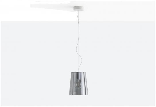 Lampa L001S/A Transparentny czerwony