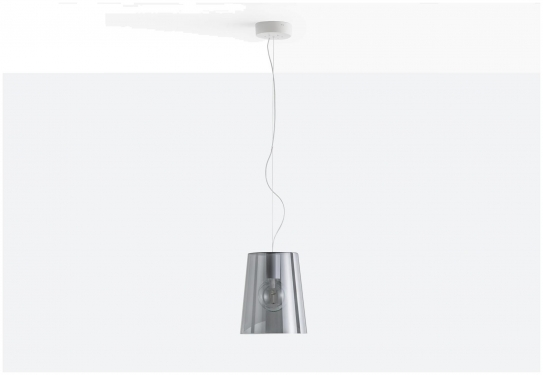 Lampa L001S/A Transparentny szary