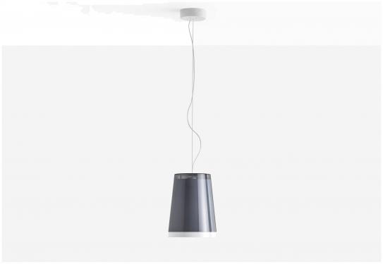 Lampa L001S/AA Transparentny szary
