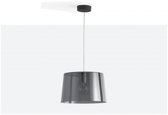 Lampa L001SW/B Transparentny czerwony