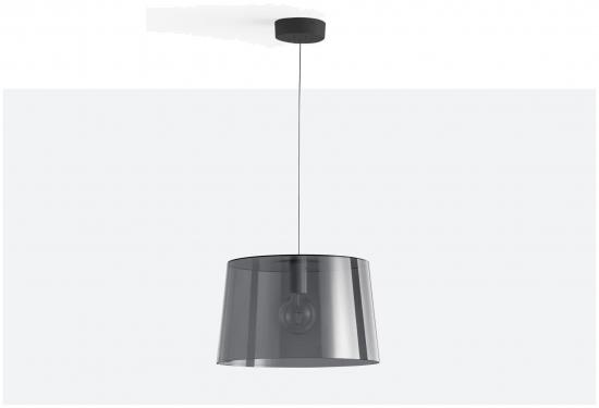 Lampa L001SW/B Transparentny szary