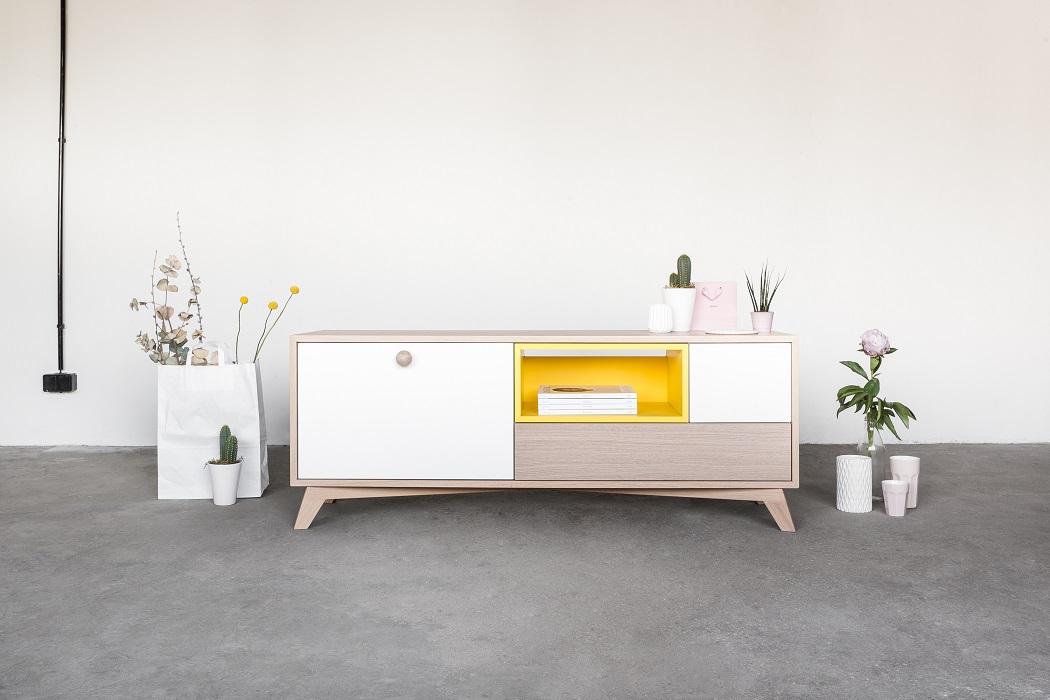 szafka rtv midi talukko drewniana komoda polski design ideal design sklep