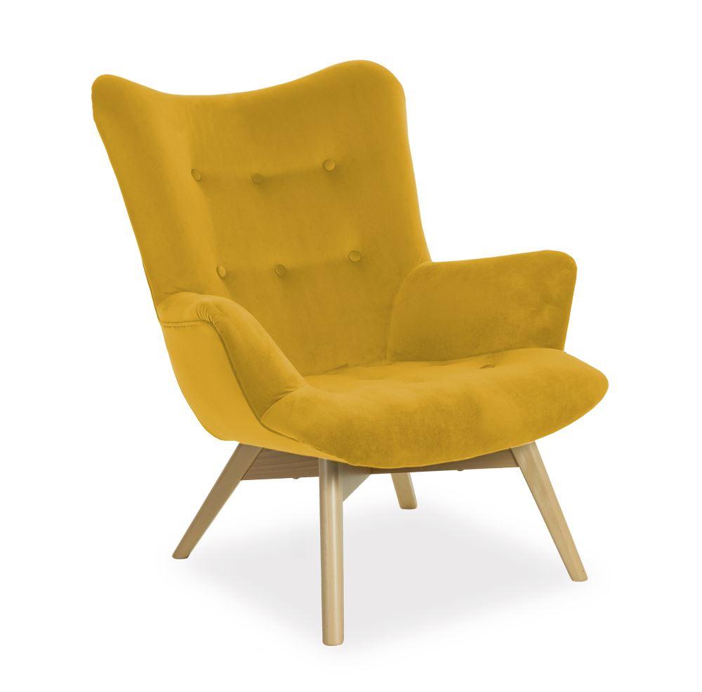 fotel angel musztardowy atreve ideal design